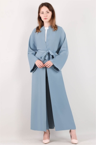 Pantolonlu Abaya Takım Mavi - Thumbnail