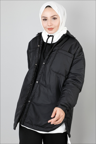 Zulays - Pufer Şişme Ceket Siyah