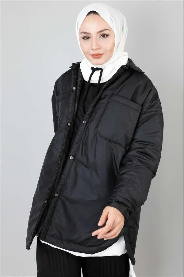 Pufer Şişme Ceket Siyah