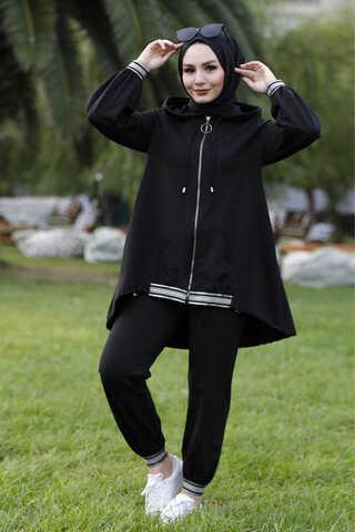Zulays - Ribana Eşofman Siyah