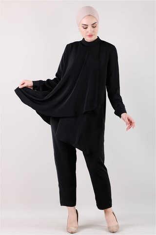 Zulays - Salaş Tunik Takım Siyah