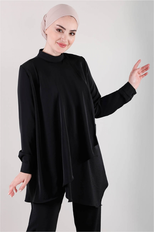 Salaş Tunik Takım Siyah