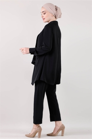Salaş Tunik Takım Siyah - Thumbnail