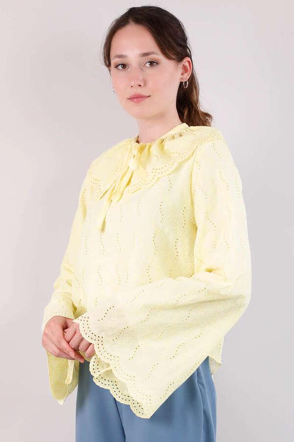 Seyyar Yakalı Gömlek Limon