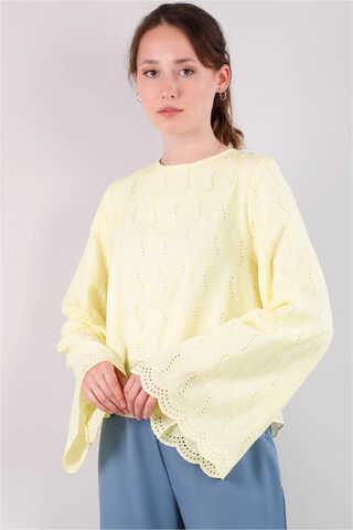 Seyyar Yakalı Gömlek Limon - Thumbnail