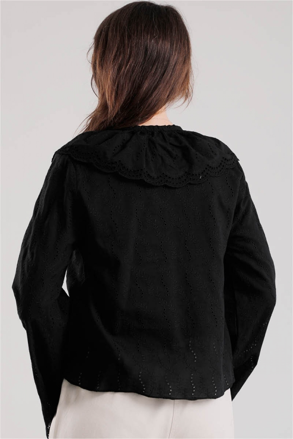 Seyyar Yakalı Gömlek Siyah