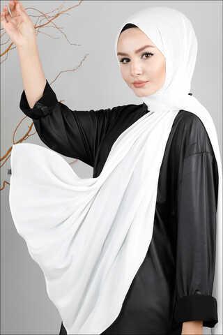 Zulays - Simli Şal Beyaz