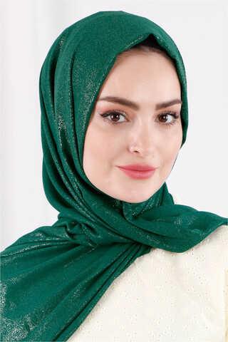 Zulays - Simli Şal Koyu Yeşil