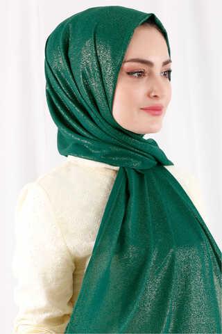 Simli Şal Koyu Yeşil - Thumbnail