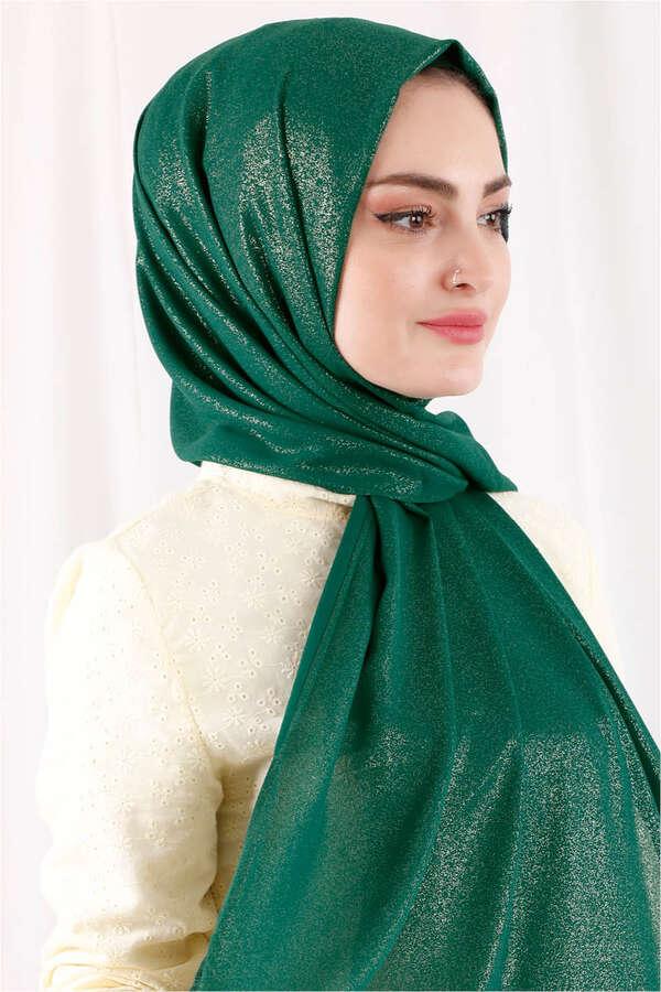 Simli Şal Koyu Yeşil