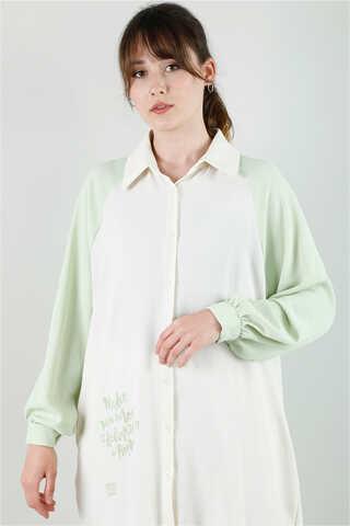 Spor Gömlek Tunik Takım Mint - Thumbnail