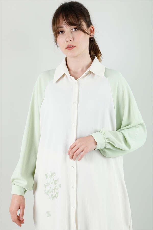 Spor Gömlek Tunik Takım Mint