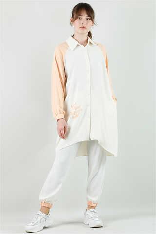 - Spor Gömlek Tunik Takım Somon