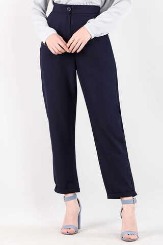 Zulays - Straight Kumaş Pantolon Lacivert