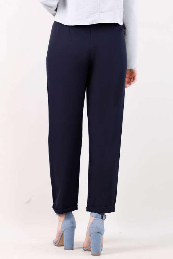 Straight Kumaş Pantolon Lacivert