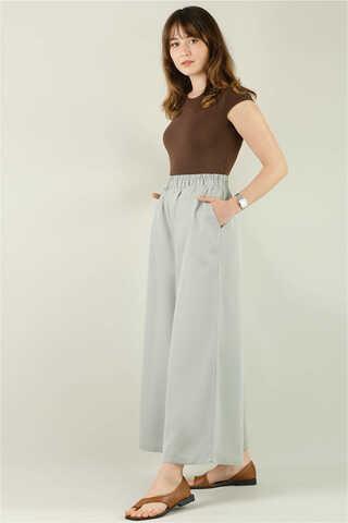 Tensel Bol Paça Pantolon Açık Mint - Thumbnail