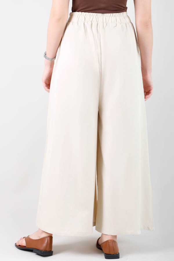 Tensel Bol Paça Pantolon Taş