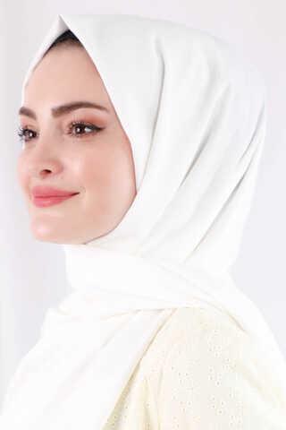 Zulays - Astra Medine İpeği Kırık Beyaz Şal