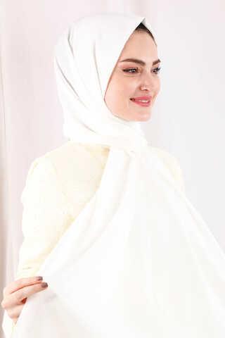 Astra Medine İpeği Kırık Beyaz Şal - Thumbnail