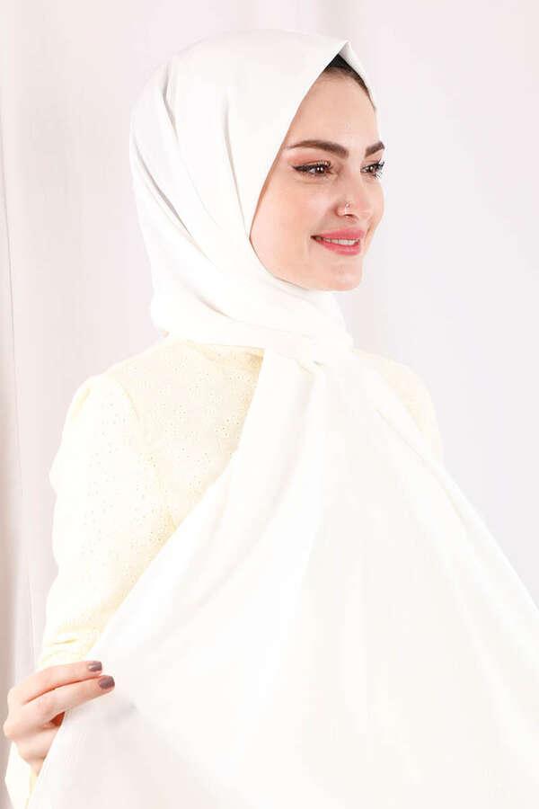 Astra Medine İpeği Kırık Beyaz Şal
