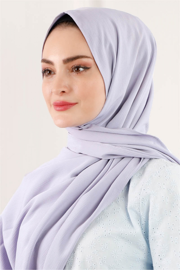 Astra Medine İpeği Lila Şal
