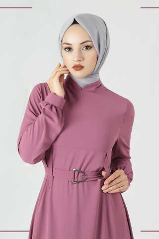 Toka Kemerli Elbise Gül Kurusu - Thumbnail