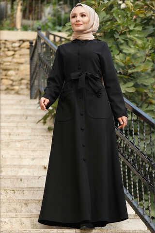 Zulays - Uzun Kemerli Kaban Siyah