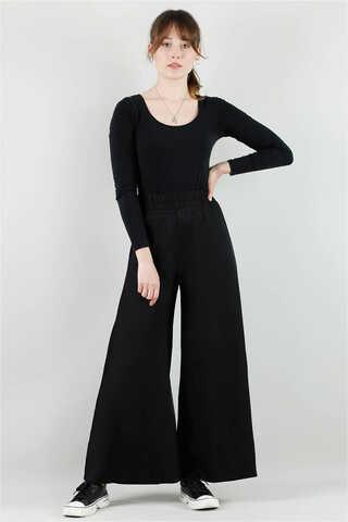- Viskon Salaş Pantolon Siyah