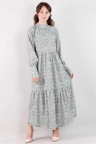Zulays - Yakası Büzgülü Elbise Mint