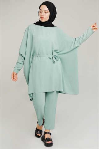 Zulays - Yarasa Kol Pantolonlu Takım Su Yeşili