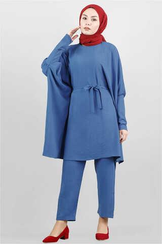 Zulays - Yarasa Kol Pantolonlu Takım İndigo