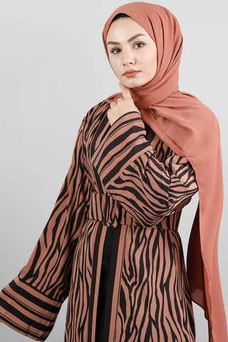Zulays - Zebra Desen Kimono Kiremit
