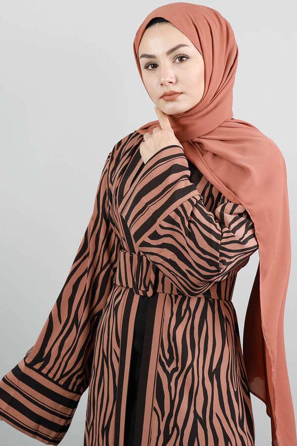 Zebra Desen Kimono Kiremit