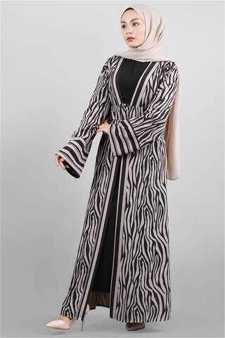Zulays - Zebra Desen Kimono Vizon